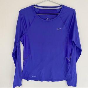 Nike Dry Fit Long Sleeve Purple Top Woman's Medium